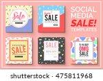 stylish social media sale... | Shutterstock .eps vector #475811968
