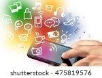 mobile phone. | Shutterstock . vector #475819576