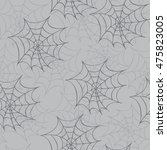 cobweb seamless pattern.... | Shutterstock . vector #475823005