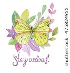 flower watercolor illustration. ...   Shutterstock . vector #475824922