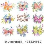 flower watercolor illustration. ...   Shutterstock . vector #475824952