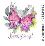 flower watercolor illustration. ...   Shutterstock . vector #475824982