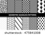 geometric patterns   vector...   Shutterstock .eps vector #475841008