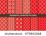 collection of rich ornamental... | Shutterstock .eps vector #475841068