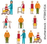 illustration set of older... | Shutterstock . vector #475841416