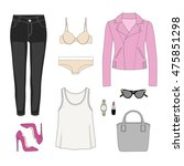 stylish and trendy clothing.... | Shutterstock .eps vector #475851298