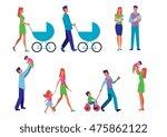 illustration set married couple ...   Shutterstock .eps vector #475862122