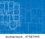 building background. plan of... | Shutterstock .eps vector #47587495