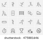 winter sport sketch icon set... | Shutterstock .eps vector #475881646