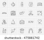 wedding sketch icon set for web ... | Shutterstock .eps vector #475881742