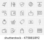 shopping sketch icon set for... | Shutterstock .eps vector #475881892