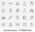 wedding sketch icon set for web ... | Shutterstock .eps vector #475881916