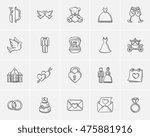 wedding sketch icon set for web ... | Shutterstock .eps vector #475881916