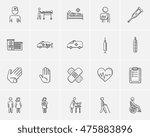 medicine sketch icon set for... | Shutterstock .eps vector #475883896