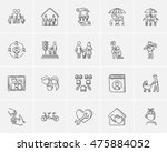 family sketch icon set for web  ... | Shutterstock .eps vector #475884052