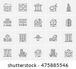 construction sketch icon set... | Shutterstock .eps vector #475885546