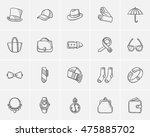 accessories sketch icon set for ... | Shutterstock .eps vector #475885702