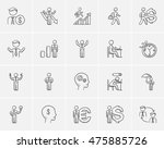 business sketch icon set for... | Shutterstock .eps vector #475885726