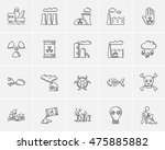 ecology sketch icon set for web ... | Shutterstock .eps vector #475885882