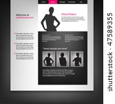 web site design template ... | Shutterstock .eps vector #47589355