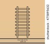 rail road icon | Shutterstock .eps vector #475895632