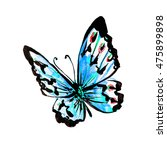 butterfly watercolor  isolated...   Shutterstock . vector #475899898