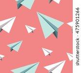 paper planes pattern. seamless... | Shutterstock .eps vector #475901266