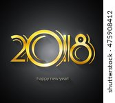 happy new year 2018 greeting...   Shutterstock .eps vector #475908412