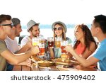 group of friends hanging out... | Shutterstock . vector #475909402