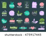 vector health and beauty care... | Shutterstock .eps vector #475917445