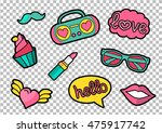 vector colorful quirky patches... | Shutterstock .eps vector #475917742