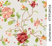 vintage flowers   floral... | Shutterstock .eps vector #475918426