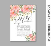 wedding invitation or card with ... | Shutterstock .eps vector #475929706