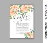 wedding invitation or card with ... | Shutterstock .eps vector #475929715