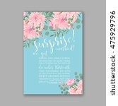 wedding invitation or card with ... | Shutterstock .eps vector #475929796
