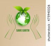 save energy for earth | Shutterstock .eps vector #475940326