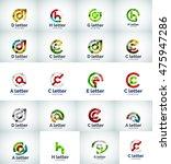 vector set of internet letter...   Shutterstock .eps vector #475947286