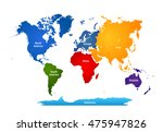 world map with colorful... | Shutterstock .eps vector #475947826