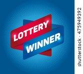 lottery winner arrow tag sign. | Shutterstock .eps vector #475949392