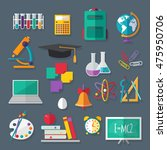 set of school and education... | Shutterstock . vector #475950706