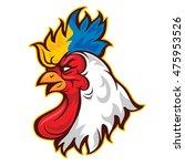 2017 rooster logo   Shutterstock .eps vector #475953526