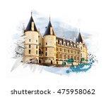 castle conciergerie  royal... | Shutterstock . vector #475958062