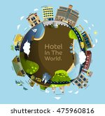 style hotels in the world.... | Shutterstock .eps vector #475960816