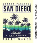 san diego typography with palms ... | Shutterstock .eps vector #475965082