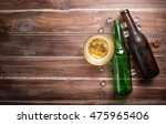 Beer Glass With Bottle Cap And...