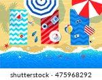 summer vector illustration of... | Shutterstock .eps vector #475968292