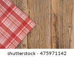 the checkered tablecloth on...   Shutterstock . vector #475971142