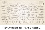 vintage decor elements and... | Shutterstock . vector #475978852