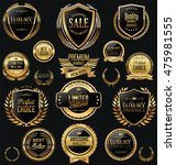 golden sale shields laurel... | Shutterstock .eps vector #475981555