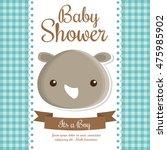 rhino animal cartoon baby... | Shutterstock .eps vector #475985902